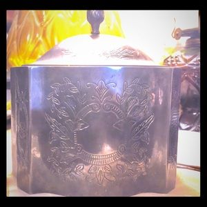 Vintage silver jewelry box